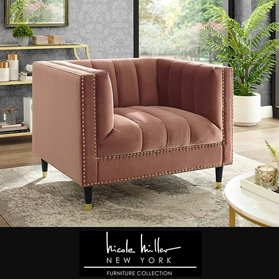 Famechon Sofa With Channeled Back And Seat Walnut Legs: Buy Geoffey Velvet Club Chair Or Sofa