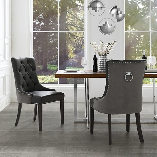 Cheap Dining Chair Sets: Buy Harry Leather PU / Velvet Dining Chair