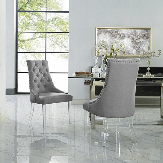 Buy Hester Dining Chair Set Of 2 Armless Acrylic Leg