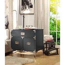 Gabi Lacquer Finish Nightstand - 3 drawers | Side Table | Executive Style | Modern & Functional by Inspired Home