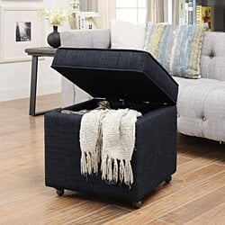 Remarkable Buy Rothwell Black Leather Storage Ottoman Bench By Gamerscity Chair Design For Home Gamerscityorg