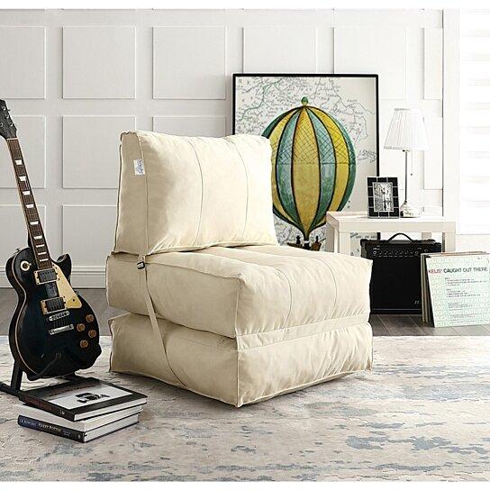 Cool Loungie Cloudy Foam Lounge Chair Convertible Bean Bag Indoor Outdoor Self Expanding Water Resistant Inzonedesignstudio Interior Chair Design Inzonedesignstudiocom
