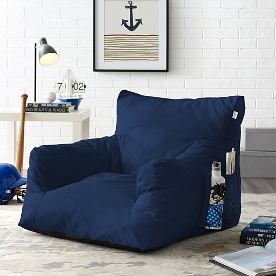 Admirable Loungie Comfy Foam Lounge Chair Nylon Bean Bag Indoor Outdoor Self Expanding Water Resistant Short Links Chair Design For Home Short Linksinfo