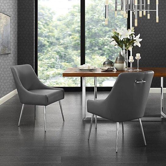 Buy Mazolini Leather PU Or Velvet Dining Chair