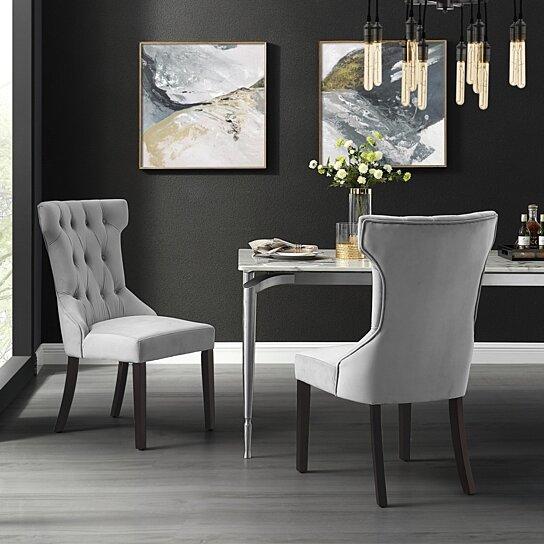 Morgan Velvet Or Linen Dining Chair