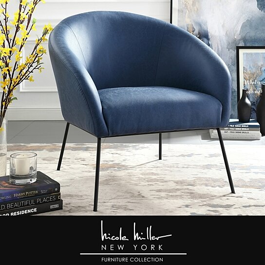 Buy Nicole Miller Will Accent Chair Upholstered Metal