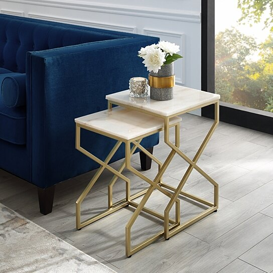 Square Coffee Table Metal Legs: Buy Patricia End Or Coffee Table