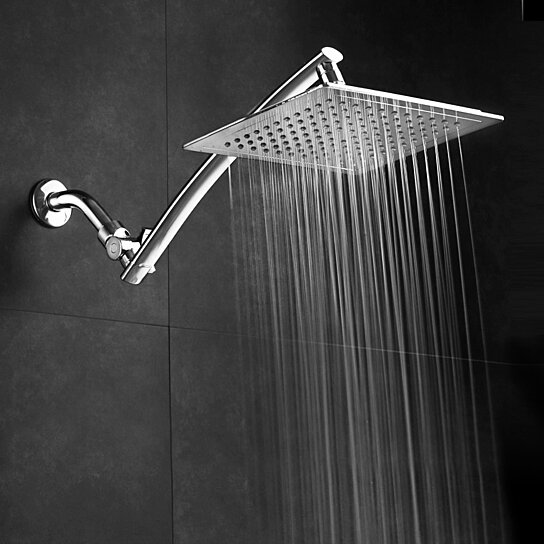 Buy Razor 9 inch Chrome Square Rainfall Shower Head with ...