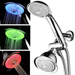 Luminex LED Shower Combo with Air Jet Turbo Pressure Boost Nozzle Technology
