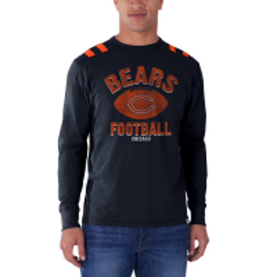 Buy chicago bears 39 47 brand bruiser long sleeve tee t for Simply for sports brand t shirts