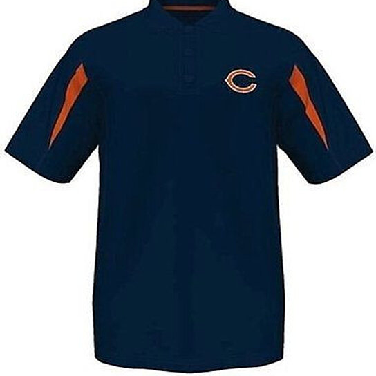Buy Chicago Bears Moist Management Synthetic Mens Polo
