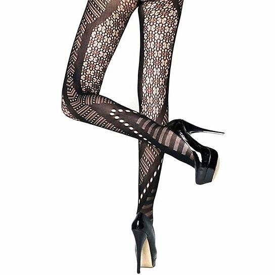 d2f396fe8ee09 Buy Killer Legs Exotic Plus Size Pantyhose Chevron & Floral Cutouts by  Jacule on OpenSky