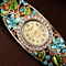 Women Wristwatch Bangle with Crystal Flowers and Quartz Watch by Funland