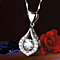High quality 18K Whiet golf filled 5A zircon neclace
