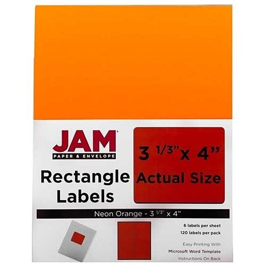 Buy neon orange 3 1 3 x 4 address labels 6 labels per for 6 to a page labels