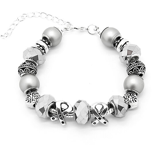 Buy Brain Cancer Awareness European Style Bracelet By