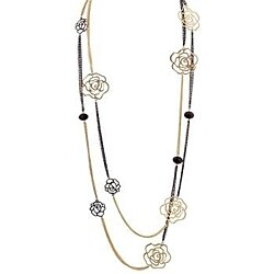 Beaded Silvertone Necklace