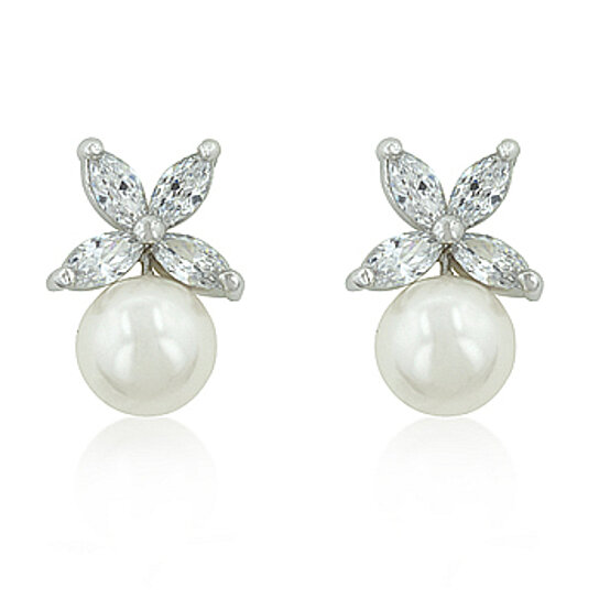 8e0ff078d Buy Butterfly Pearl Stud Earrings by Jewelry4AQueen Collection on Gemafina