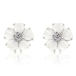 White Flower Nouveau Earrings