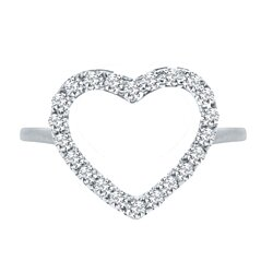 Studded Heart Toe Ring for Women's in 925 Sterling Silver, 14k Gold Plated
