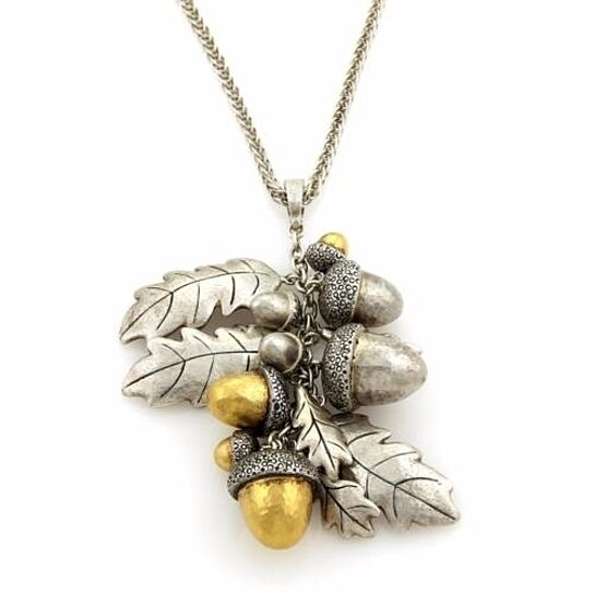 Buy gurhan acorn 24k gold sterling silver cluster acorn pendant buy gurhan acorn 24k gold sterling silver cluster acorn pendant necklace by jewels by joy on opensky mozeypictures Image collections