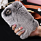 Winter Warm Case For iPhone 6 6S 7 4.7 Plus 5.5 5S SE Bling Diamond Fluffy Animal Fur Cover Fundas