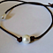 High Quality Organic Handcrafted Freshwater Pearl and Leather Choker/Necklace
