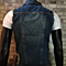 Men's Comfortable Casual Slim Fit Retro Demin Jacket Sleeveless Vest Blue