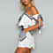 Off Shoulder Playsuit Beach Short Ruffles Rompers