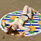 Pineapple Round Beach Towels with Deluxe Trim