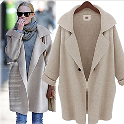 Stylish Womens Knitted Cardigan Sweater Coat