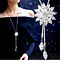 Crystal Snowflake Necklace Tassel Style