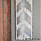Chevron Metal and Wood Plaque- 3 Chevron Arrows