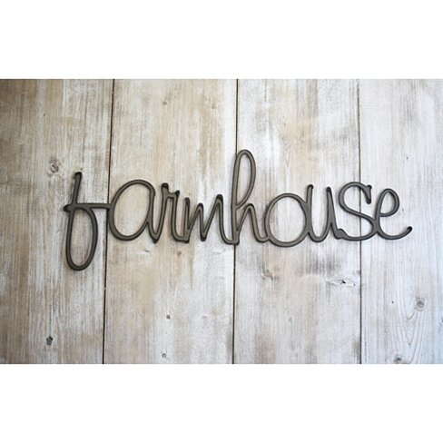 Farmhouse Word Art, Metal Sign, Wall Decor, Wall Hanging, Farmhouse Decor, Farmhouse Sign, Rustic Home Decor