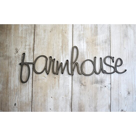 Farmhouse Word Art Metal Sign Wall Decor By Jnmrustic Designs On Opensky