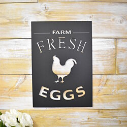 Farmhouse Decor, Farm Fresh Eggs,  Farmers Market Sign, Wall Hanging, Kitchen Decor, Metal Sign, Home Sign