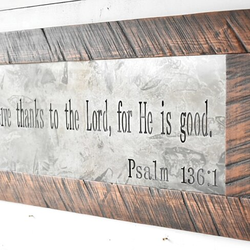Metal Sign, Metal Wall Art, Scripture Sign, Signs, Home Sign, Metal and Wood Decor, Farmhouse Sign, Rustic Home Decor, Home Decor, Wood Sign