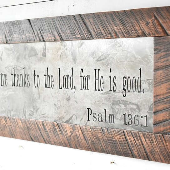 Metal Sign Metal Wall Art Scripture Sign Signs Home Sign Metal And Wood Decor Farmhouse Sign Rustic Home Decor Home Decor Wood Sign
