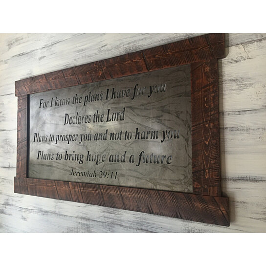 Buy Metal Sign Scripture Wall Art Hanging Wood Inspirational Home Decor Rustic By JNMRustic Designs On Dot Bo