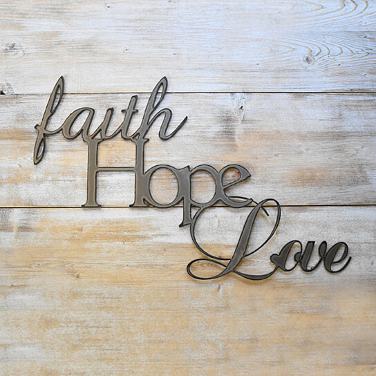 Buy Metal Wall Art Faith Hope Love By Jnmrustic Designs On