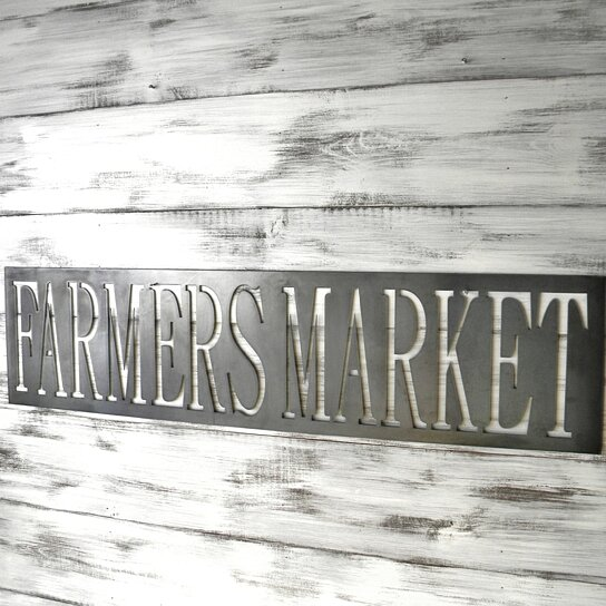 Large Metal Sign - Farmers Market, Farmhouse Home Decor, Metal Signs, Wall  haning, Kitchen Decor