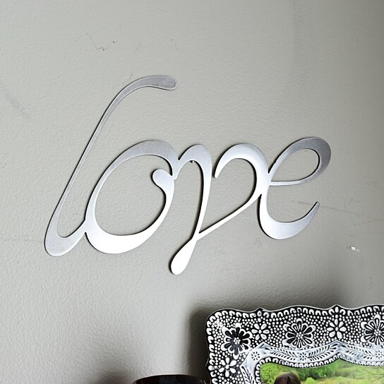 Wall Hanging Love Sign Home Metal Words Word Art Decor Gallery Farmhouse Signs