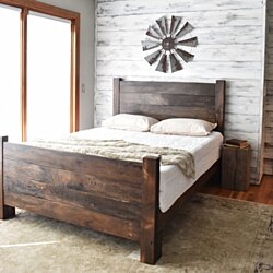 Wood Bed Frame, Platform Bed, Queen Bed, King Headboard, Modern Farmhouse, Bedroom Furniture, Platform Bed, Bed Frame, Wood Headboard Queen