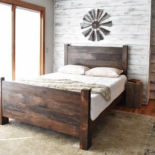 new products 0dda1 37e1e Wood Bed Frame, Platform Bed, Queen Bed, King Headboard, Modern Farmhouse,  Bedroom Furniture, Platform Bed, Bed Frame, Wood Headboard Queen