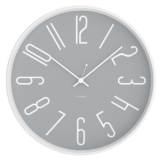 Buy White Amp Grey 12 Quot Silent Wall Clock Steel And Glass Precision Quartz Movement W Sweep Second Outstanding Accuracy Beautiful By Jonsson