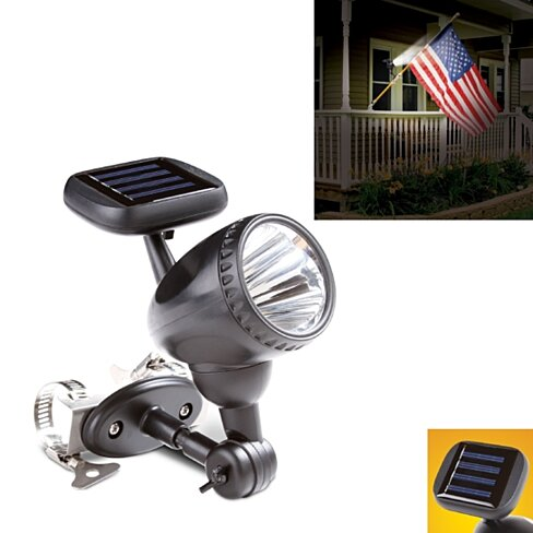 buy solar powered flag pole led light by deals by t h on. Black Bedroom Furniture Sets. Home Design Ideas