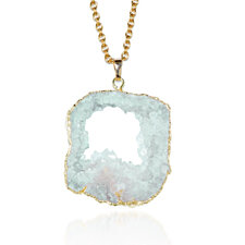 White as Winter Crystal Druzy Necklace