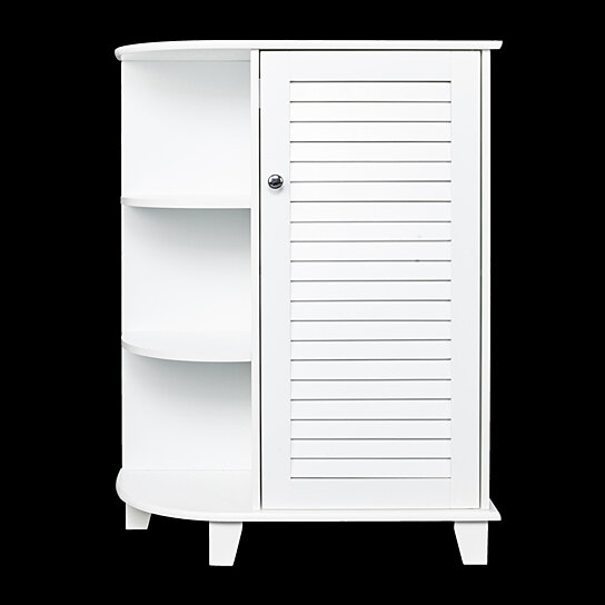 Trending Product This Item Has Been Added To Cart 19 Times In The Last 24 Hours 3 Tier Floor Storage Cabinet With Side Shelves Zt048 White