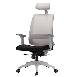 Ergonomic Swivel Mesh Office Chair with High Back, Adjustable Headrest, Backrest and Armrest, Breathable Computer Desk Task Executive Chair