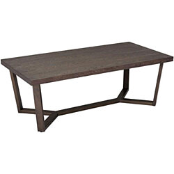 "Wood Metal Coffee Table, Black/Grey  Wood Grain,47"" L,Furniture for Living Room and Bedroom"